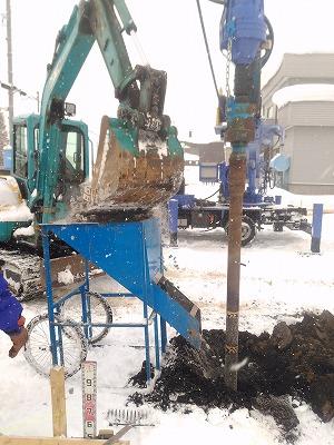 地盤補強工事(旭川近郊の工務店ならミヤザキホーム)