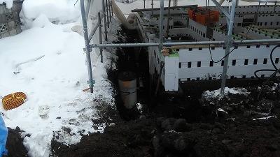 屋外水道設備工事(旭川近郊の工務店ならミヤザキホーム)