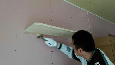 造作棚塗装(旭川近郊の工務店ならミヤザキホーム)