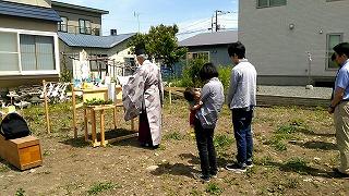 2日連続の地鎮祭(旭川近郊の工務店ならミヤザキホーム)