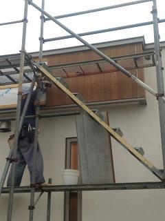 外壁ほぼ完了(旭川近郊の工務店ならミヤザキホーム)