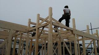 建て方2日めとリフォーム(旭川近郊の工務店ならミヤザキホーム)