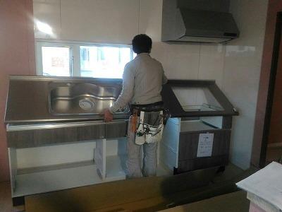 キッチン取付(旭川近郊の工務店ならミヤザキホーム)