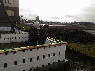 コンクリート打設(旭川近郊の工務店ならミヤザキホーム)