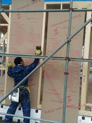 構造用合板貼り(旭川近郊の工務店ならミヤザキホーム)