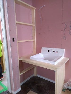 造作洗面台(旭川近郊の工務店ならミヤザキホーム)