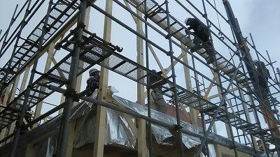 社屋建て方(旭川近郊の工務店ならミヤザキホーム)