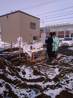 新社屋地鎮祭(旭川近郊の工務店ならミヤザキホーム)