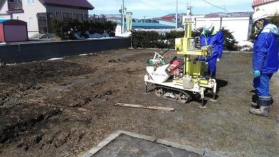 地盤調査(旭川近郊の工務店ならミヤザキホーム)