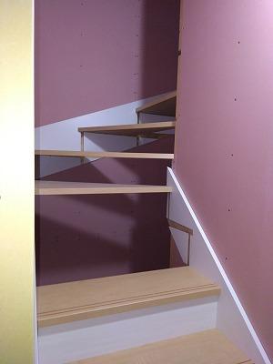 階段取付け(旭川近郊の工務店ならミヤザキホーム)