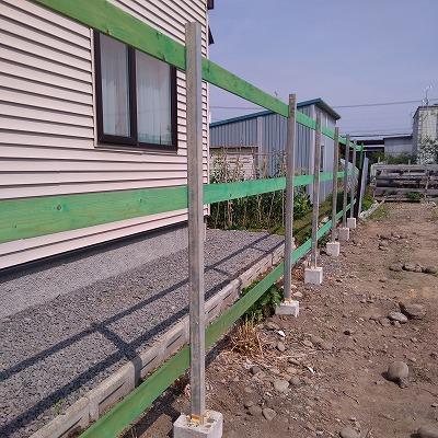 塀の増設(旭川近郊の工務店ならミヤザキホーム)