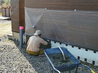 基礎モルタル工事(旭川近郊の工務店ならミヤザキホーム)