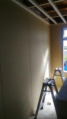 壁ボード張り(旭川近郊の工務店ならミヤザキホーム)