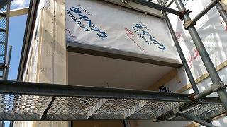 外壁下地取付(旭川近郊の工務店ならミヤザキホーム)