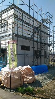 外壁工事 続き(旭川近郊の工務店ならミヤザキホーム)