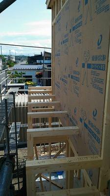 外部構造用合板取付(旭川近郊の工務店ならミヤザキホーム)