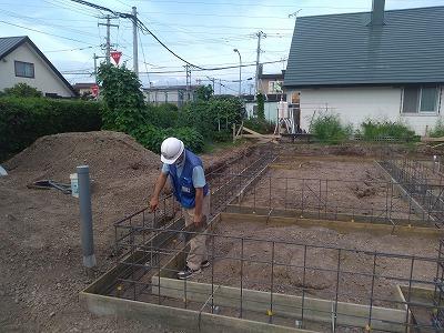 配筋検査(旭川近郊の工務店ならミヤザキホーム)