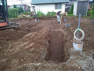 根掘り二日目(旭川近郊の工務店ならミヤザキホーム)