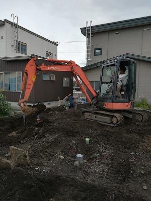 根堀り(旭川近郊の工務店ならミヤザキホーム)