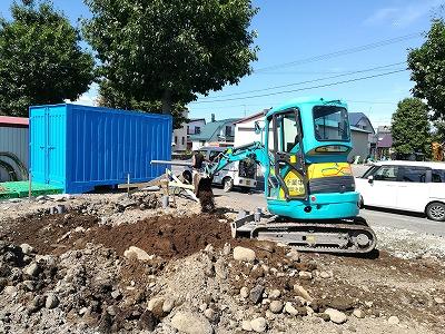 屋外給排水工事(旭川近郊の工務店ならミヤザキホーム)