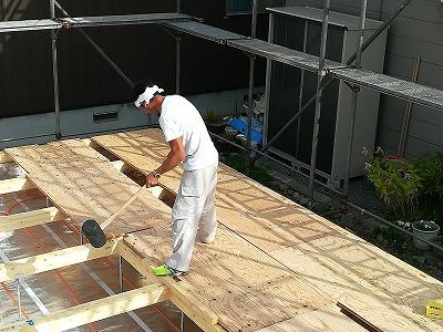 床下地合板施工(旭川近郊の工務店ならミヤザキホーム)