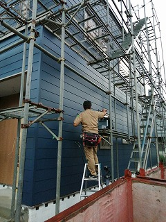 外部電気工事(旭川近郊の工務店ならミヤザキホーム)