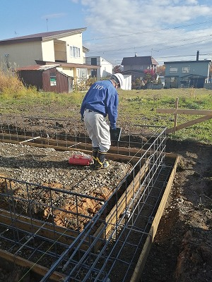 JIO配筋検査(旭川近郊の工務店ならミヤザキホーム)