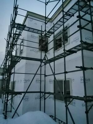 透湿防水シート工事(旭川近郊の工務店ならミヤザキホーム)