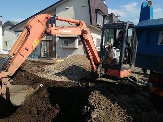 根掘り終了(旭川近郊の工務店ならミヤザキホーム)