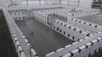 土間コンクリート打設(旭川近郊の工務店ならミヤザキホーム)