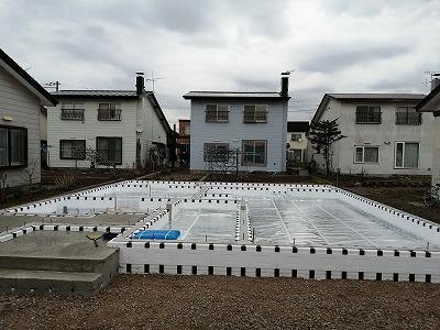 アルミシート敷き(旭川近郊の工務店ならミヤザキホーム)