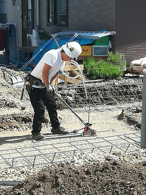 鉄筋組み(旭川近郊の工務店ならミヤザキホーム)