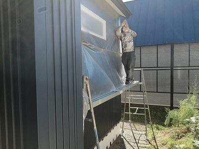 軒天塗装(旭川近郊の工務店ならミヤザキホーム)