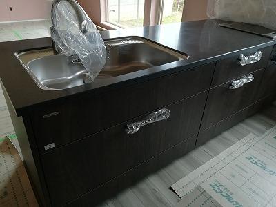 キッチン施工(旭川近郊の工務店ならミヤザキホーム)