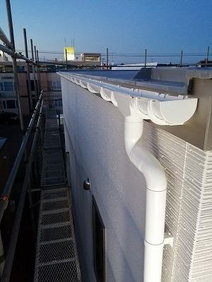 雨樋取付完了(旭川近郊の工務店ならミヤザキホーム)